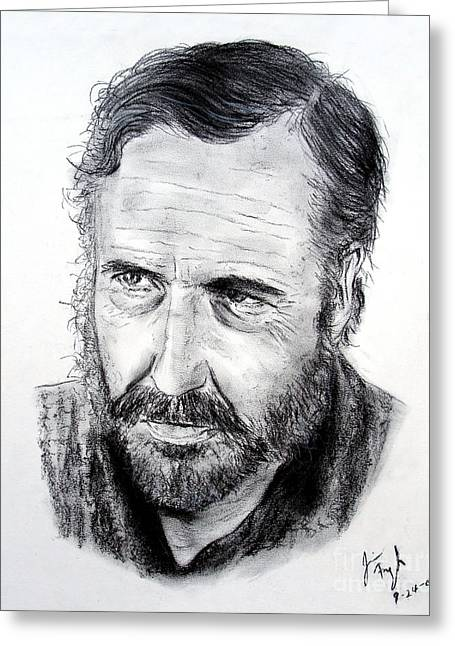 Sergio Leone Greeting Cards - Jason Robards Greeting Card by Jim Fitzpatrick