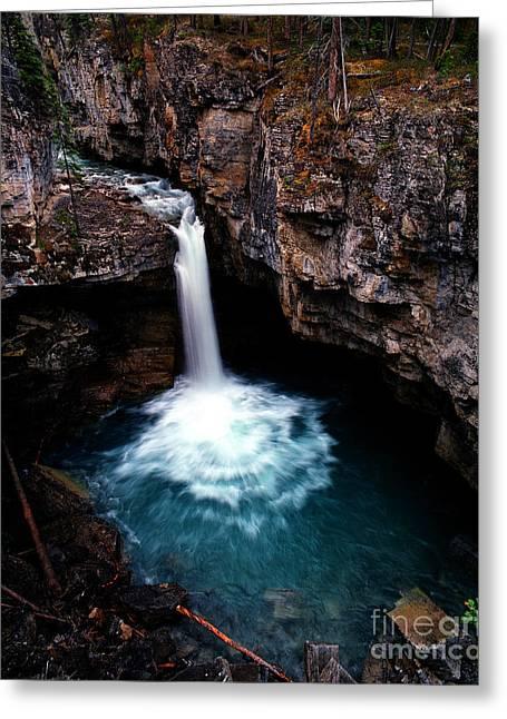 Beauty Creek Greeting Cards - Jasper - Beauty Creek Falls Greeting Card by Terry Elniski