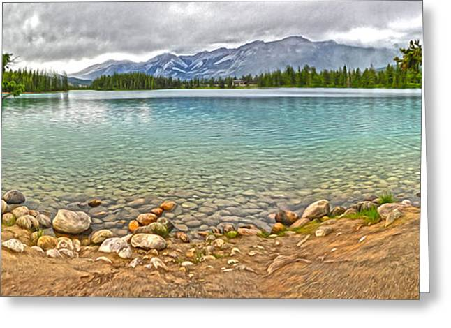 Gregory Dyer Greeting Cards - Jasper National Park - Maligne Lake Greeting Card by Gregory Dyer