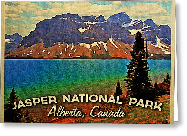 Rocky Mountain Posters Greeting Cards - Jasper National Park Canada Greeting Card by Flo Karp