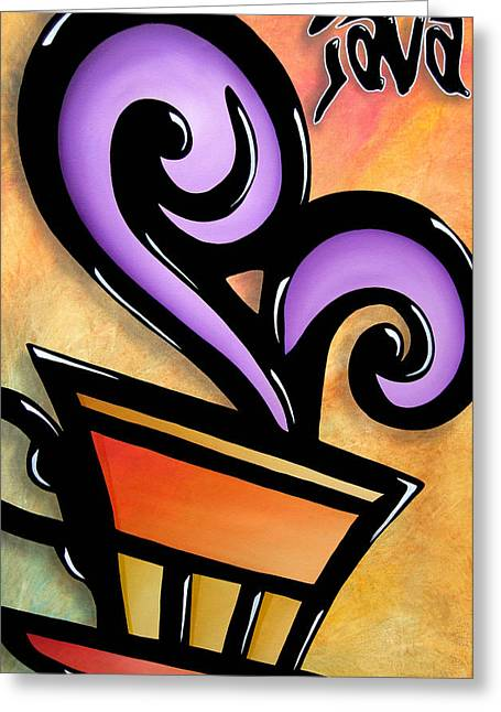 Pop Mixed Media Greeting Cards - Java by Thomas Fedro Greeting Card by Tom Fedro - Fidostudio