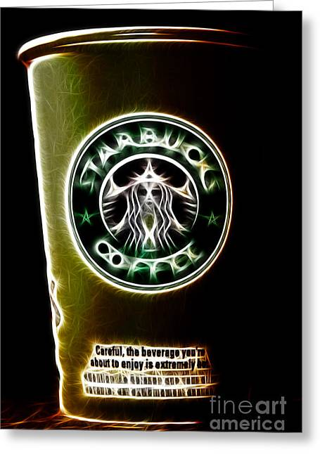 Mystic Art Greeting Cards - Java Jolt . The Beverage You Are About To Enjoy Is Extremely Hot Greeting Card by Wingsdomain Art and Photography