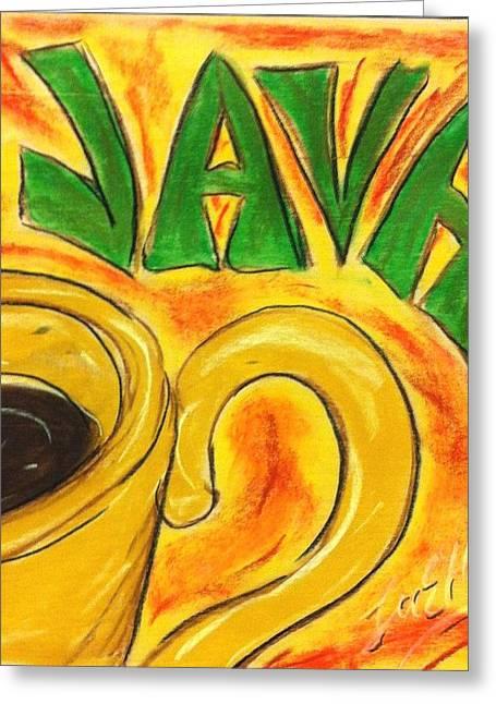 Cup Pastels Greeting Cards - Java Greeting Card by Lee Halbrook