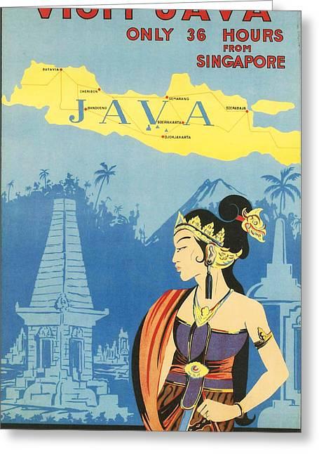 Java Greeting Card by Georgia Fowler