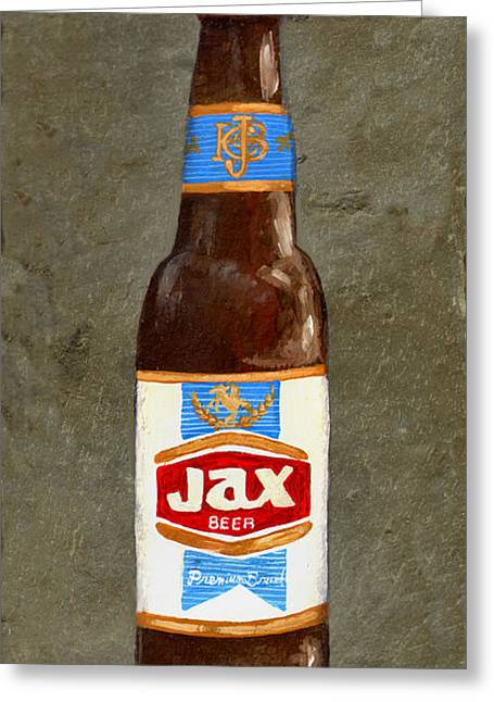 Label Greeting Cards - Jax Beer Bottle 3 Greeting Card by Elaine Hodges