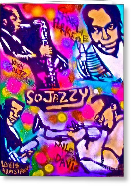 Jazz 4 All Greeting Card by Tony B Conscious