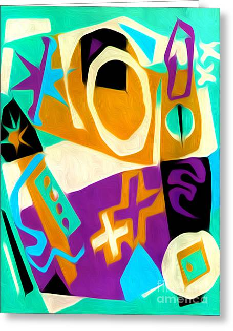 Jazz Art - 01 Greeting Card by Gregory Dyer
