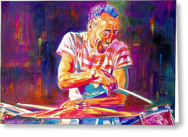 Drum Paintings Greeting Cards - Jazz Beat Greeting Card by David Lloyd Glover