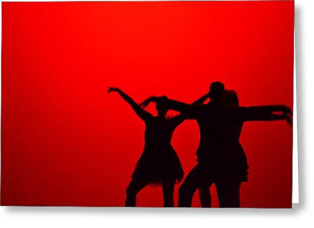 Matt Hanson Greeting Cards - Jazz Dance Silhouette Greeting Card by Matt Hanson
