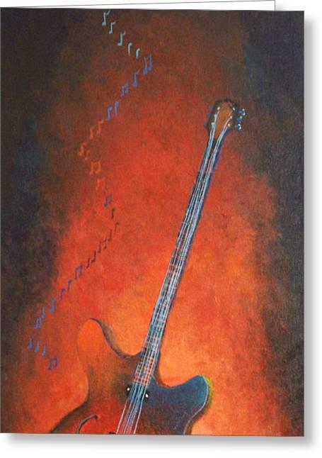 Jazz Guitar Greeting Card by Bill Werle