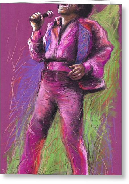 Celebrities Greeting Cards - Jazz James Brown Greeting Card by Yuriy  Shevchuk