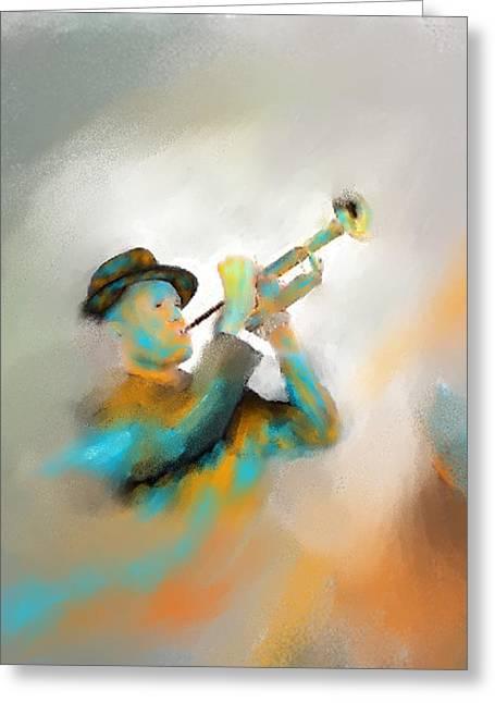 Larry Cirigliano Greeting Cards - Jazz  Greeting Card by Larry Cirigliano