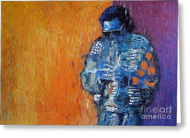 Trumpeters Greeting Cards - Jazz Miles Davis 2 Greeting Card by Yuriy  Shevchuk