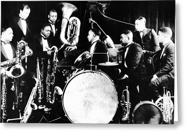 Tuba Greeting Cards - JAZZ MUSICIANS, c1925 Greeting Card by Granger
