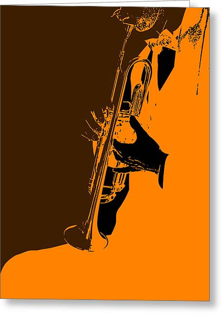 Band Digital Art Greeting Cards - Jazz Greeting Card by Naxart Studio