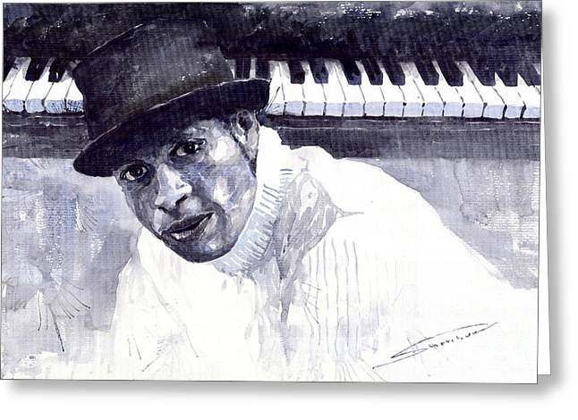 Jazz Roberto Fonseca Greeting Card by Yuriy  Shevchuk