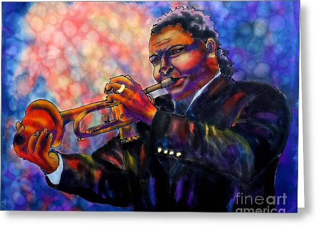 Linda Marcille Greeting Cards - Jazz Solo Greeting Card by Linda Marcille