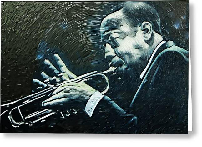 Jazz Greeting Card by Tilly Williams
