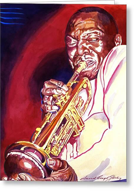 Jazz Trumpet Greeting Cards - Jazzman Cootie Williams Greeting Card by David Lloyd Glover