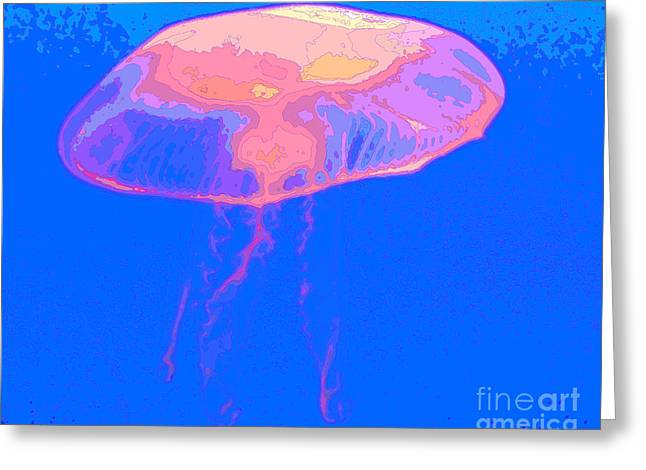 Jellyfish Art Greeting Cards - Jazzy Jelly Greeting Card by Al Powell Photography USA