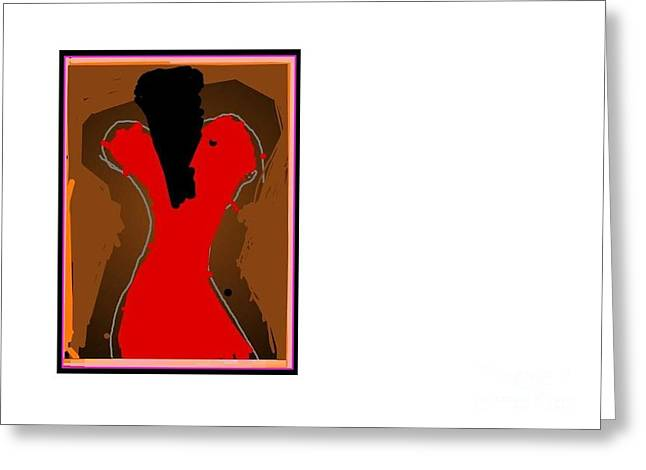 Jazzy Lady Greeting Card by Derek M A Alexander