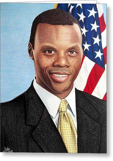 Best Sellers -  - Congressman Greeting Cards - J.C. Watts Greeting Card by Danielle R T Haney