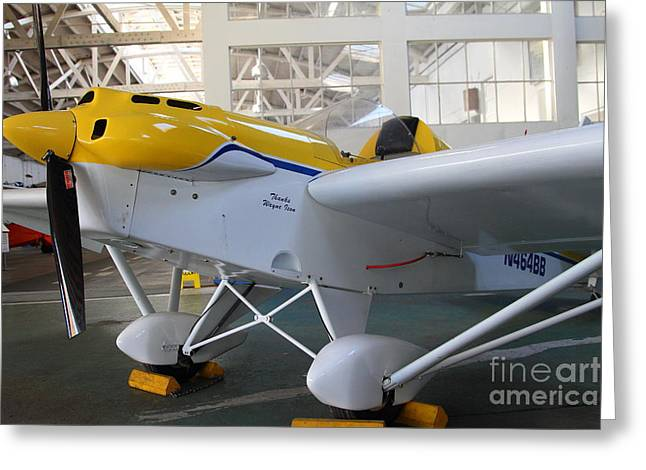 Passenger Airplanes Greeting Cards - JDT Mini Max 1600R . EROS . Single Engine Propeller Kit Airplane . 7D11169 Greeting Card by Wingsdomain Art and Photography
