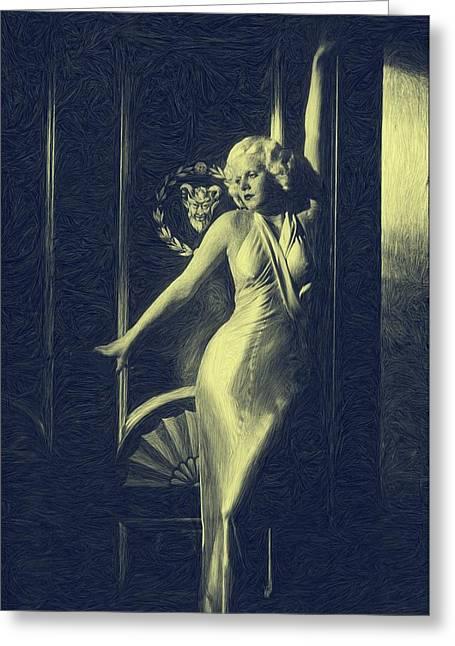 Jean Harlowe Greeting Card by Dwayne  Graham