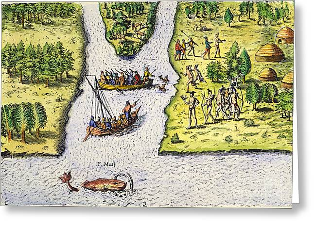 Jean Ribault: Florida, 1562 Greeting Card by Granger