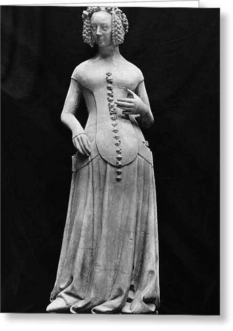Statue Portrait Photographs Greeting Cards - Jeanne Ii Dauvergne Greeting Card by Granger