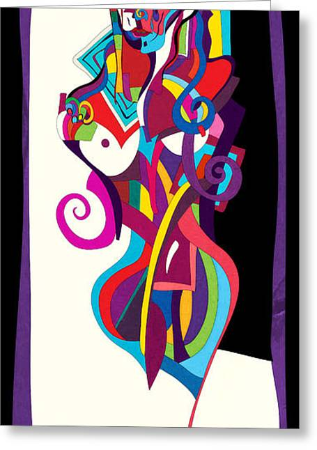 Modigliani Digital Art Greeting Cards - Jeanne2 Greeting Card by Vladimir Stanisevic