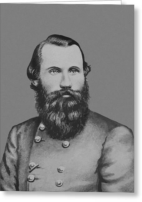Confederate Digital Art Greeting Cards - JEB Stuart -- Confederate General Greeting Card by War Is Hell Store