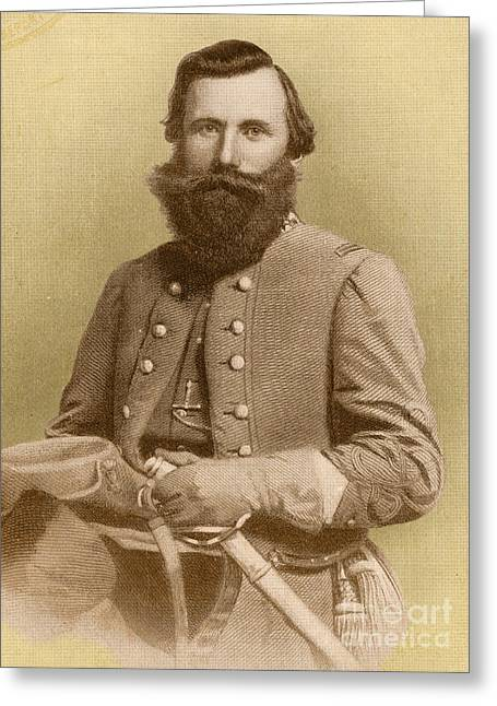 The General Lee Greeting Cards - Jeb Stuart, Confederate General Greeting Card by Photo Researchers