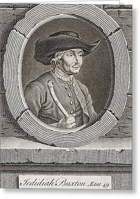 1750s Greeting Cards - Jedediah Buxton, English Mathematician Greeting Card by Middle Temple Library