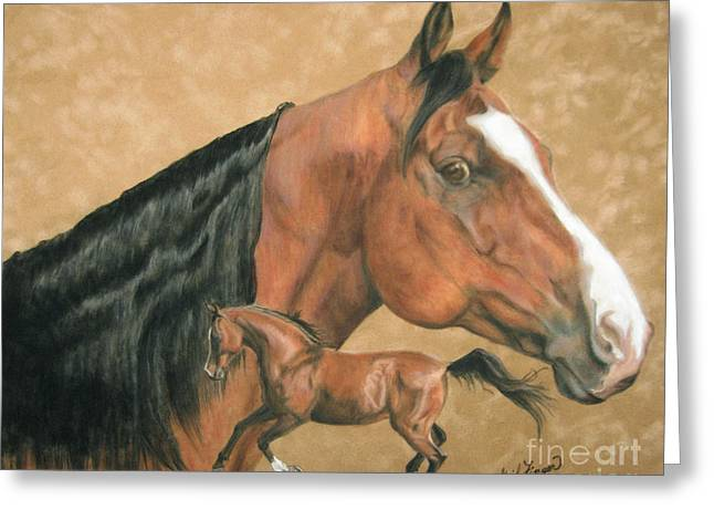 Horse Images Pastels Greeting Cards - Jedi Greeting Card by Gail Finger