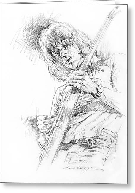 Most Viewed Greeting Cards - Jeff Beck - Truth Greeting Card by David Lloyd Glover