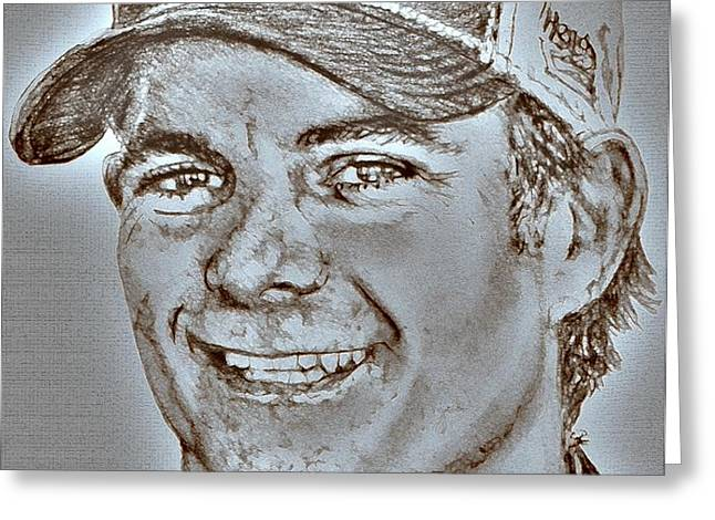 Jeff Gordon in 2010 Greeting Card by J McCombie