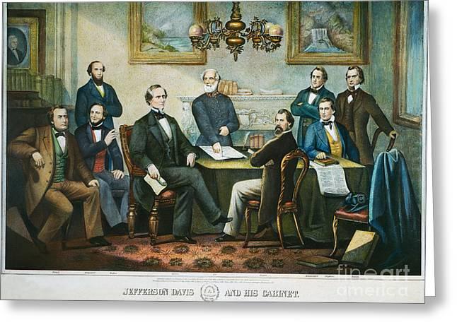General Davis Greeting Cards - Jefferson Davis & Cabinet Greeting Card by Granger