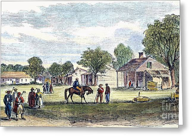 Farmers Field Greeting Cards - Jefferson Davis Slaves Greeting Card by Granger
