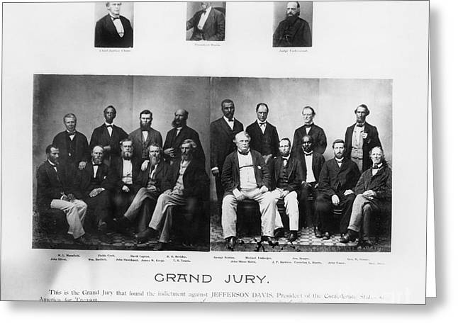 Jefferson Davis Trial Greeting Card by Granger