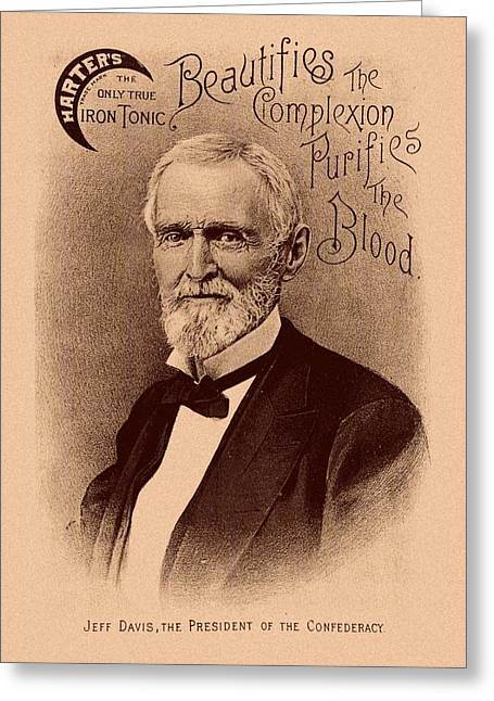 The War Between The States Greeting Cards - Jefferson Davis Vintage Advertisement Greeting Card by War Is Hell Store