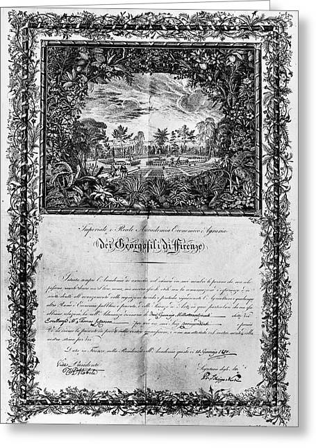 Jefferson: Degree, 1820 Greeting Card by Granger