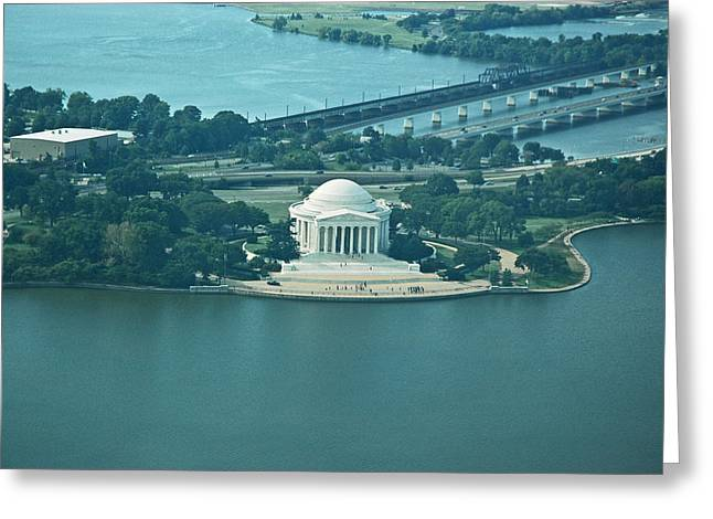 Jefferson Memorial Photographs Greeting Cards - Jefferson Memorial  Greeting Card by Sabrina  Hall