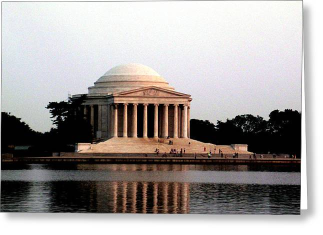 Festivities Greeting Cards - Jefferson Monument After Sunset Greeting Card by Douglas Barnett