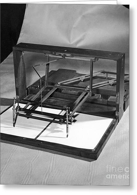 Copy Machine Greeting Cards - Jefferson: Polygraph Greeting Card by Granger