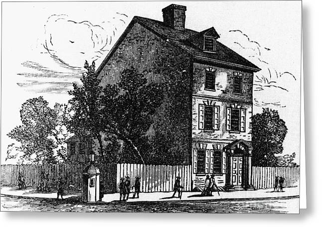American Independance Photographs Greeting Cards - Jeffersons House, 1776 Greeting Card by Granger
