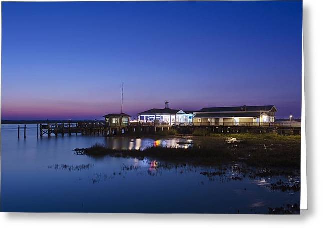 Man Made Space Greeting Cards - Jekyll Island Jekyll Island Pier Greeting Card by Rob Tilley