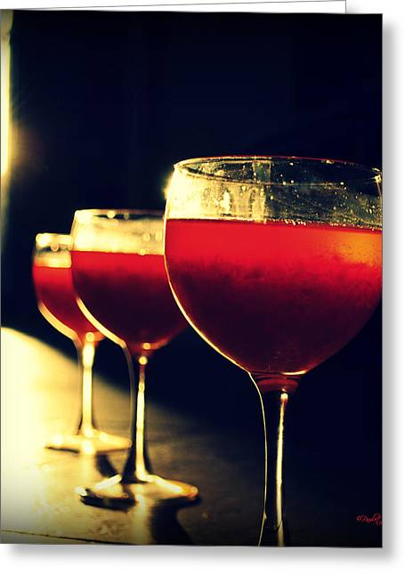 Jello Print Greeting Cards - Jello In My Wine Glass Greeting Card by Paulette B Wright