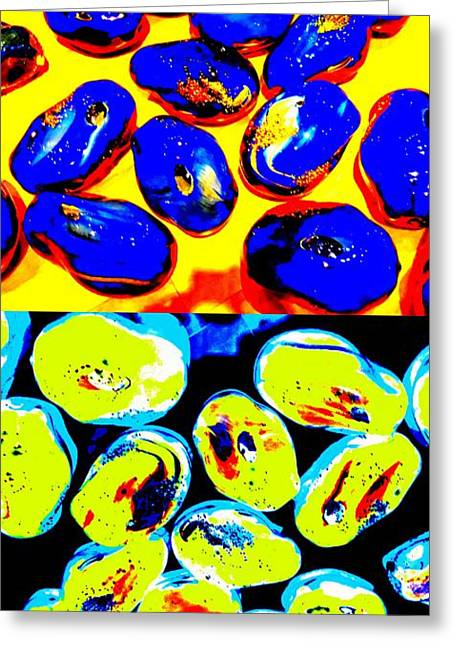 Glass Beads Greeting Cards - Jelly Bean Jewels 4 Greeting Card by Randall Weidner