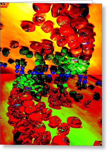 Glass Beads Greeting Cards - Jelly Bean Jewels 5 Greeting Card by Randall Weidner